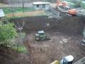 Gli escavatori al lavoro