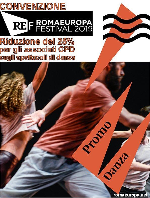 È in essere una convenzione con RomaeuropaFestival che consente ai soci Centro Promozione Danza di assistere agli spettacoli di danza in programma con una riduzione del 25% sul costo del biglietto